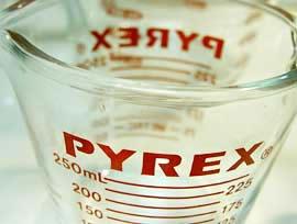 パイレックスのメジャー(計量)カップ